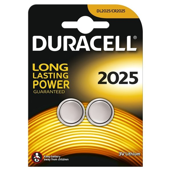Button Cell Duracell Lithium Coin 3V 2025 2PK