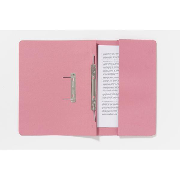Spring Files Guildhall Pocket Spiral File Foolscap 285gsm Pink PK25