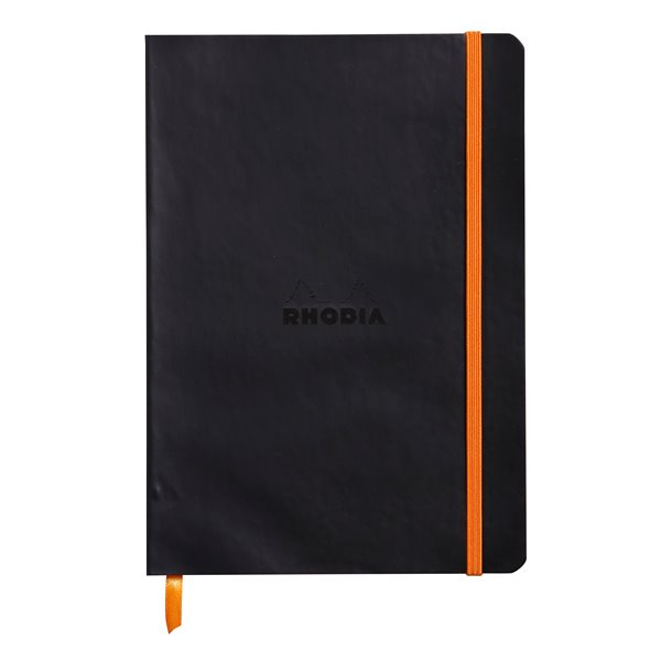 Pay Slip Pads Rhodiarama Softcover Notebook Lined A5 Black