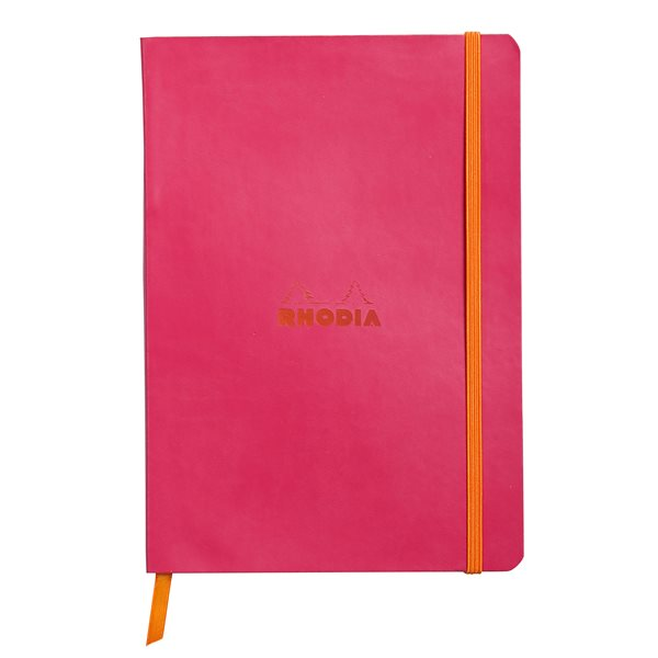 Rhodiarama Softcover Notebook Lined A5 Raspberry
