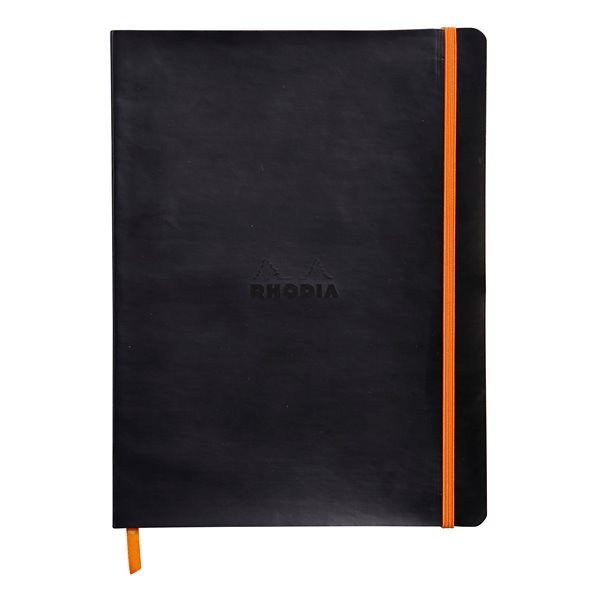 Pay Slip Pads Rhodiarama Softcover Notebook Lined 190x250 Black