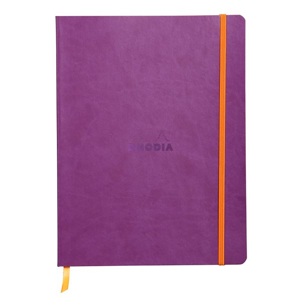 Rhodiarama Softcover Notebook Lined 190x250 Purple