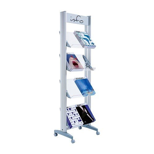 Fast Paper Mobile Display With Plexiglass Shelves