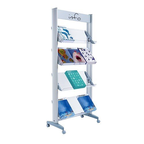 Fast Paper Wide Mobile Display With Plexiglass Shelves