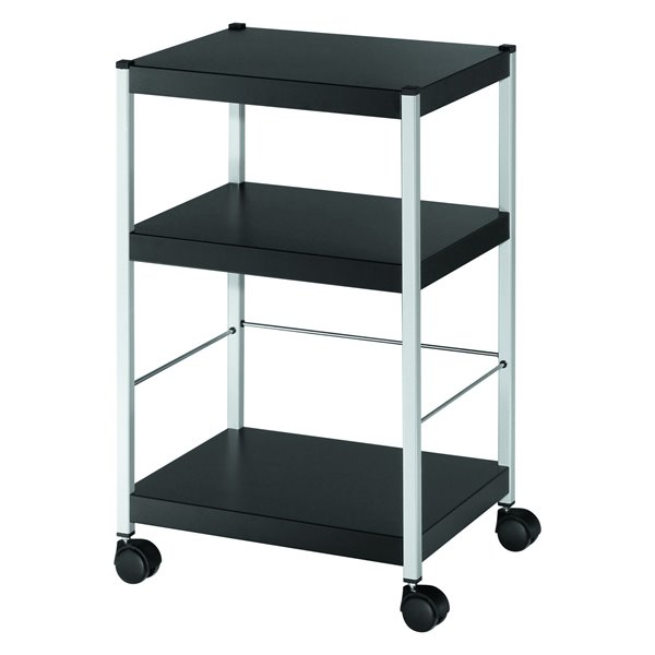 Stacking Chair Trolleys Fast Paper Mobile 3 Shelf Trolley Small