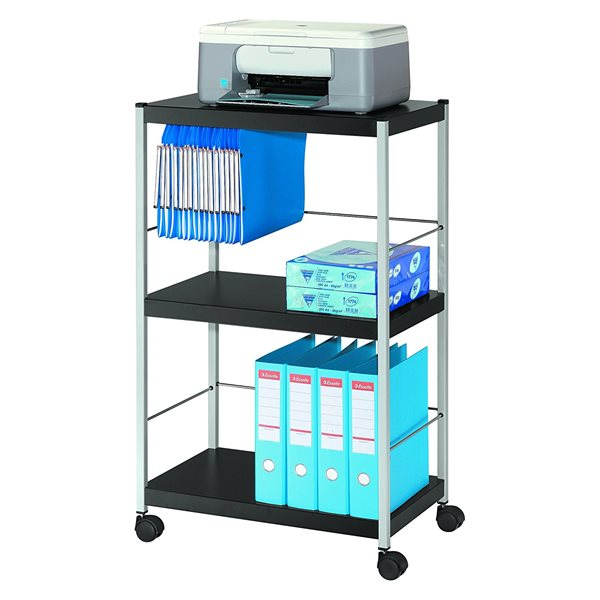 Stacking Chair Trolleys Fast Paper Mobile 3 Shelf Trolley Large