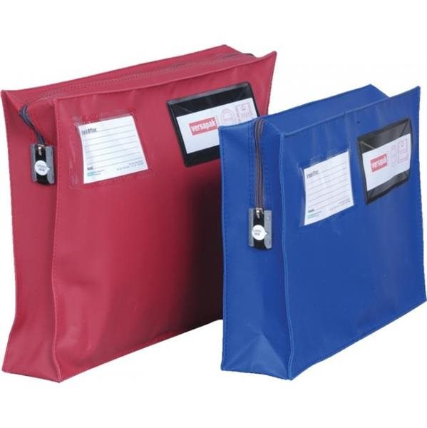 Bags Versapak Mailing Pouch With Gusset 406 X 305 X 75mm Blue