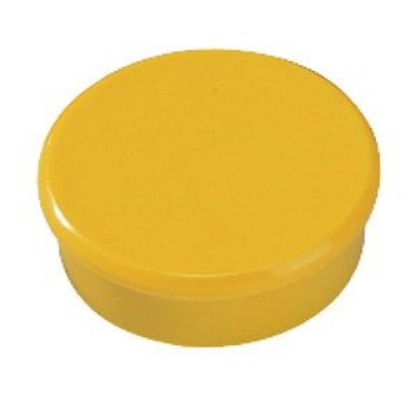 Bi-Office Round Magnets 10mm Yellow PK10