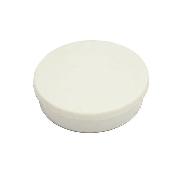 Bi-Office Round Magnets 10mm White PK10