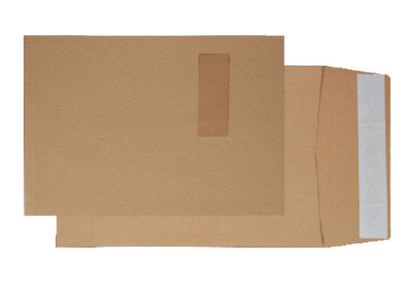 Gusset Envelopes Blake Gusset Pocket Peel and Seal Window Manilla C4 PK125