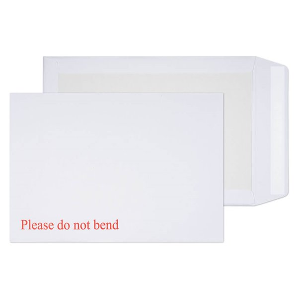 Board Backed Envelopes Board Back Pocket Peel and Seal WT C4 324x229mm 120gsm PK125