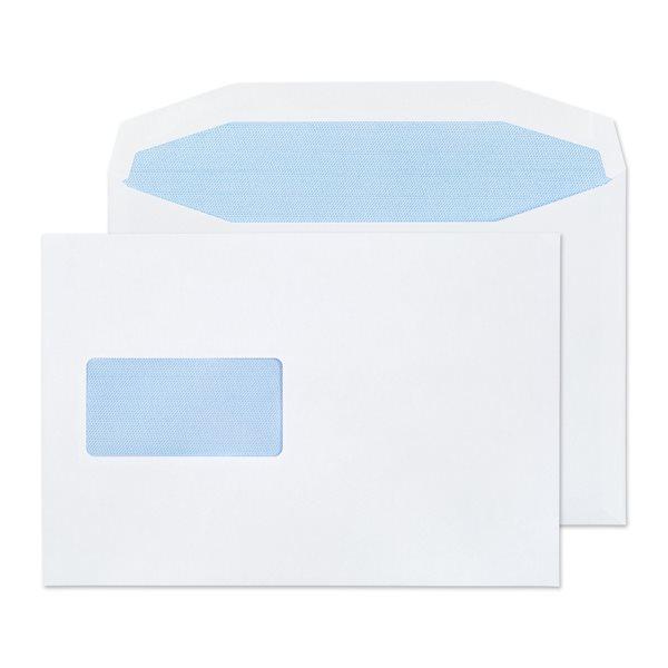 Mailer Gummed Window White C5 Plus 162x235mm 90gsm PK500