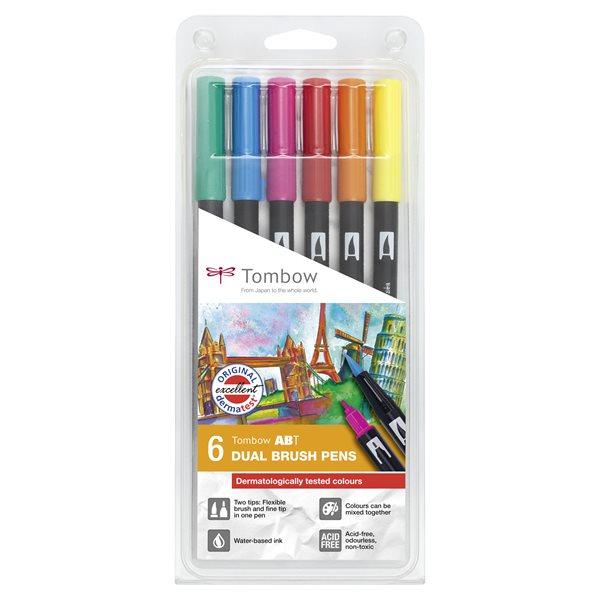 Tombow ABT Dual Brush Pen 2 tips Dermatlogical PK6