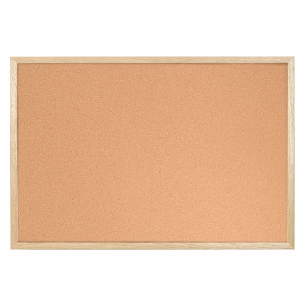 Bi-Office Cork Notice Board Wood Frame 600mm X 400mm