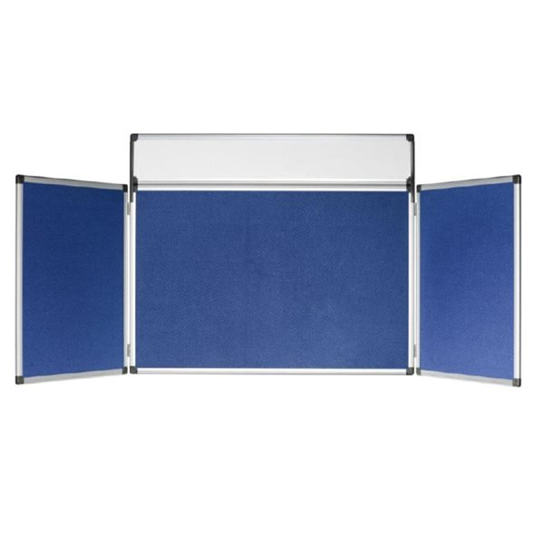 Display Panels Bi-Office 4 Panel Gallery Exhibition System Blue