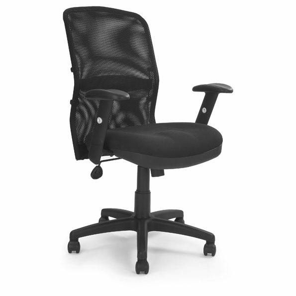 Executive Chairs Jupiter Msh Back Managers Armchair With Lumbar Support BK
