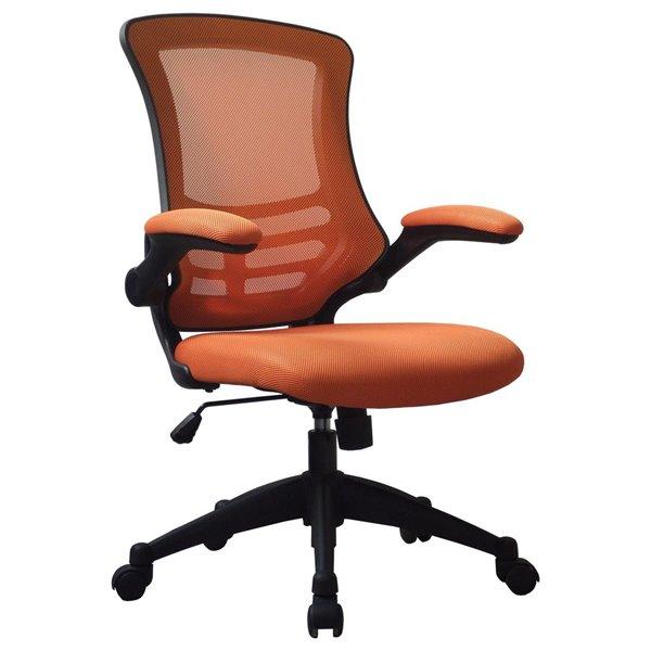 Desk Chairs Luna Medium Back Mesh Chair Orange