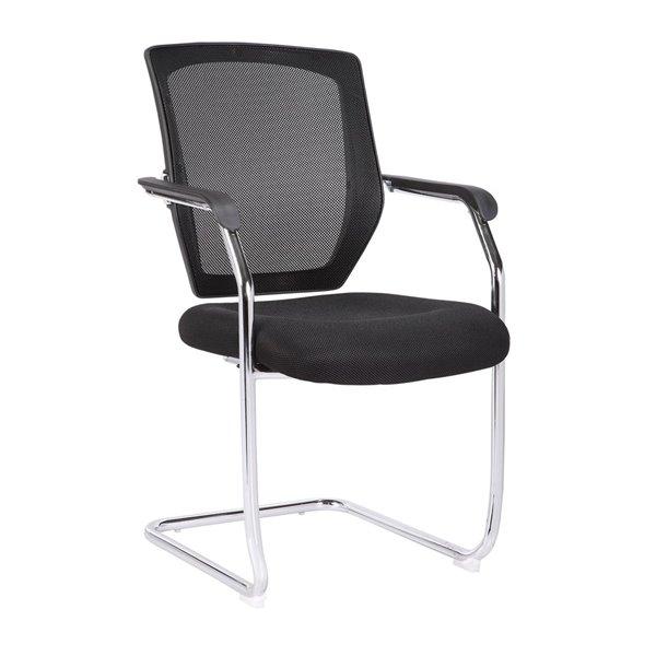 Desk Chairs Medium Back Mesh Cantilever Chair Black