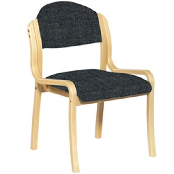Tahara Wooden Framed Stackable Side Chair Black