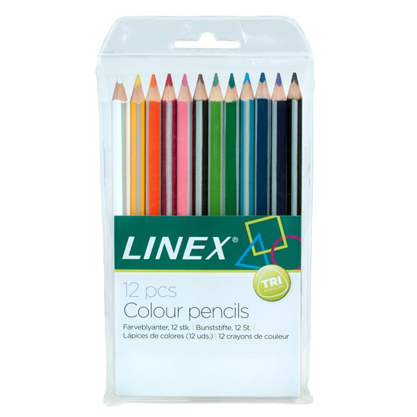 Pencils (Wood Case) Linex Colouring Pencils Pack of 12