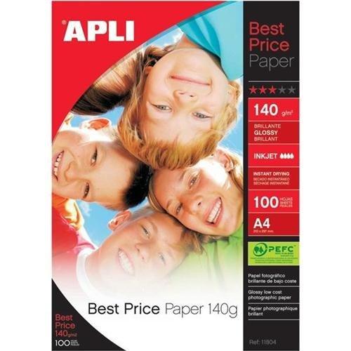 Photo Paper Apli A4 Glossy Paper 140gsm Pk 100