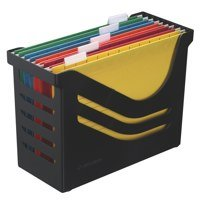 Jalema Resolution Black File Box And 5 A4 Suspension Files