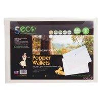 Stewart Superior 100% Oxo Biodeg Clear Popper Wallet PK5
