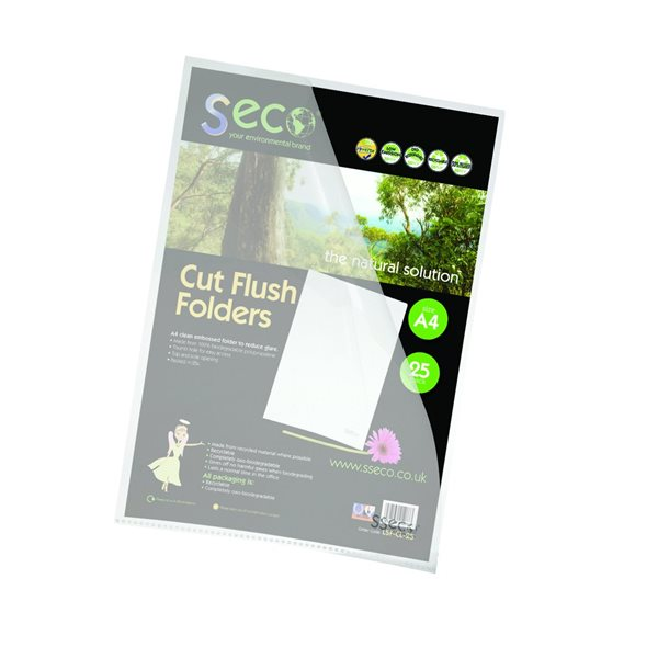 Stewart Superior 100% Oxo Bio Clear Cut Flush Folders PK25