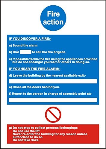 Fire Fire Action Sign