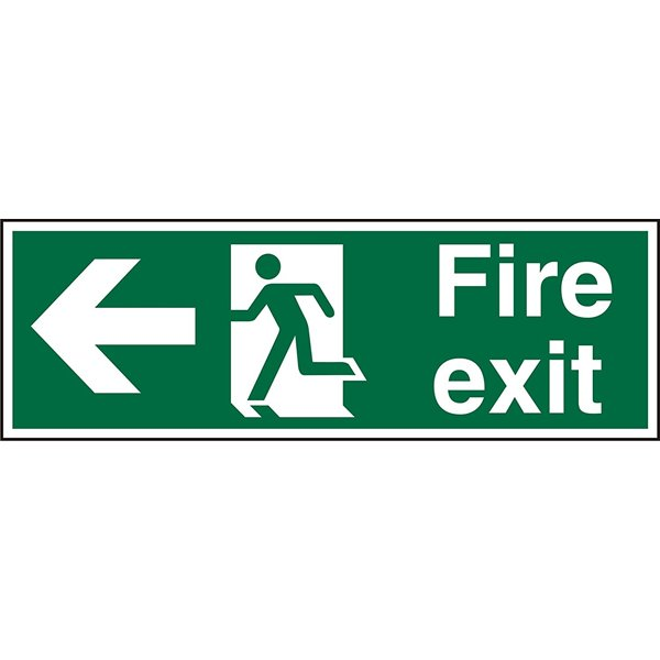 Fire Fire Exit Left Sign