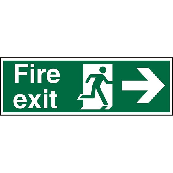 Fire Fire Exit Right Sign