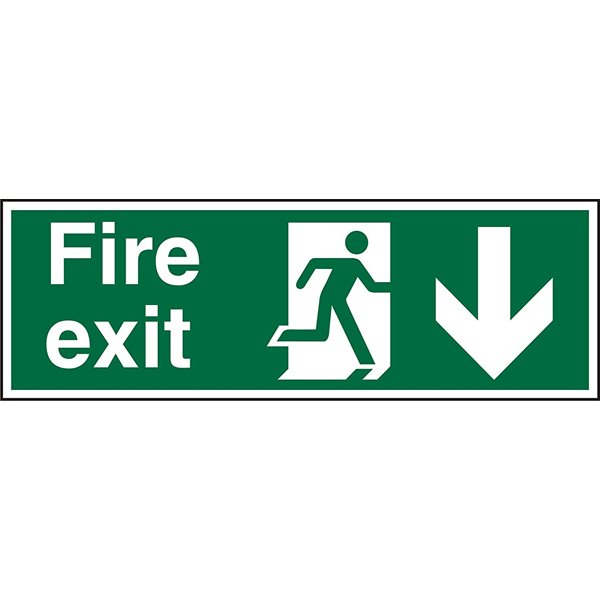 Fire Fire Exit Down Sign