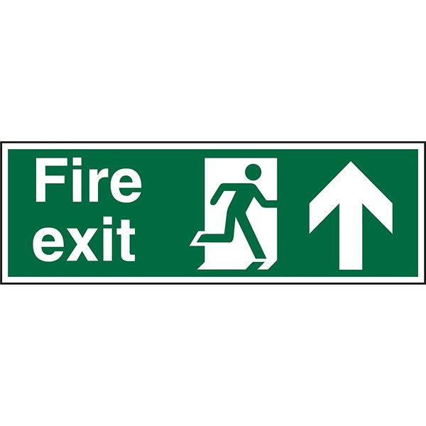 Fire Fire Exit Up Sign