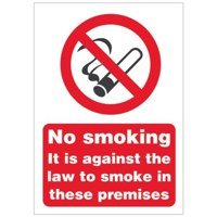 Smoking No Smoking Premises Sign