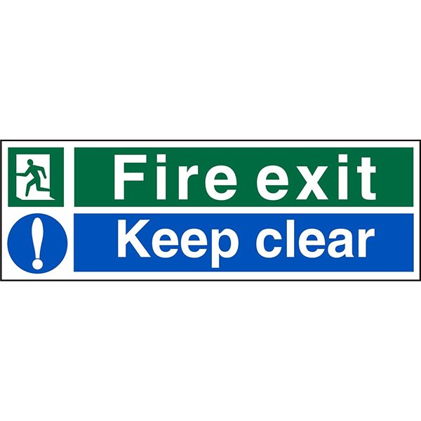 Fire Fire Exit Keep Clear Sign