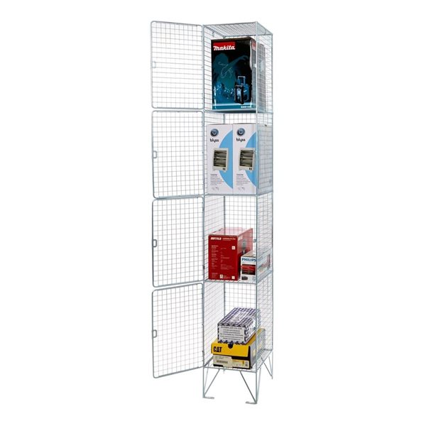 Over 1200mm High Wire Locker 4 Door