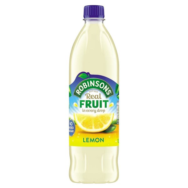 Cold Drinks Robinsons NAS Lemon 1 Litre (Pack 12)