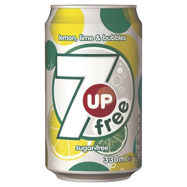 Cold Drinks 7up Diet 330ml Cans (Pack 24)
