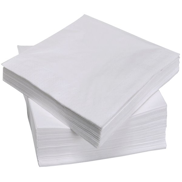 Value White Napkins 33cm 2ply (Pack 100)