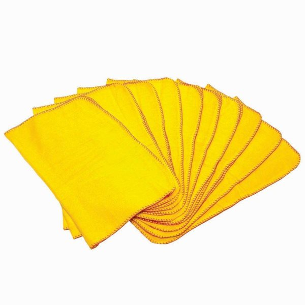 Cloths / Dusters / Scourers / Sponges Value Yellow Dusters (Pack 10)