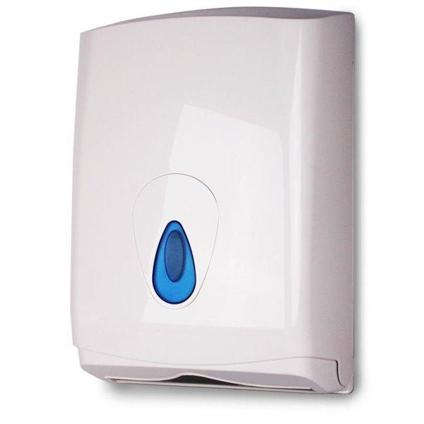 Value White Plastic Hand Towel Dispenser