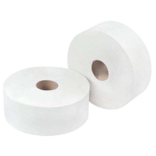 Toilet Tissue & Dispensers OMG White Jumbo Toilet Rll 300m (Pack 6)