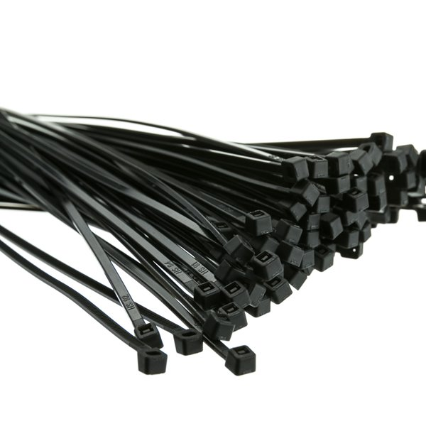 Cable Ties 200mmx 4.8mm Black  PK100