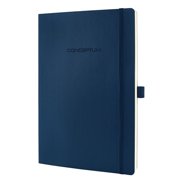 Sigel CONCEPTUM Notebook Softcover Lined 187x270x14mm Blue