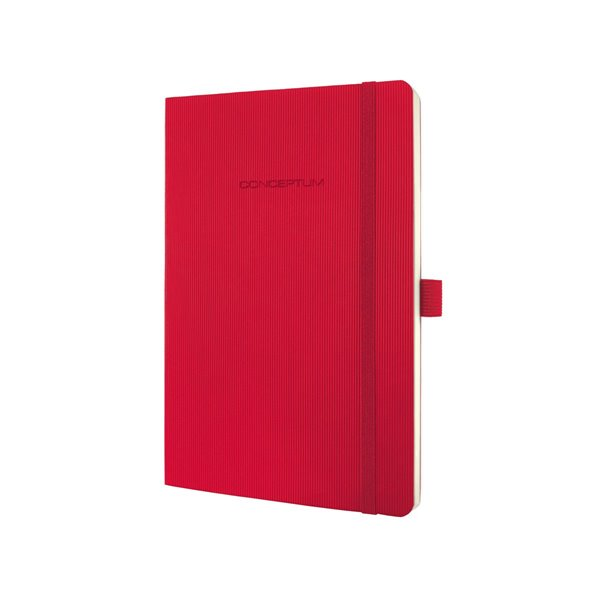 Sigel CONCEPTUM Notebook Softcover Lined 135x210x14mm Red