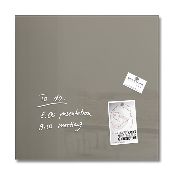 Sigel Magnetic Glass Board artverum 48x48x1.5cm Taupe