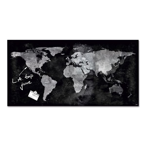 Sigel Magnetic Glass Board artverum 91x46x1.5cm World Map