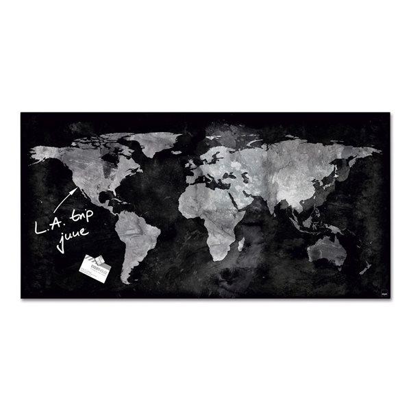 Sigel Magnetic Glass Board artverum 91x46x1.5cm World Map