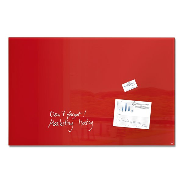 Sigel Magnetic Glass Board artverum 100x65x1.5cm Red