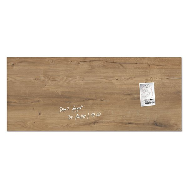 Sigel Artverum Magnetic Glass Board 1300x550mm Nat Wood